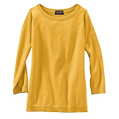 Lands' End - Gold women's fine gauge supima® crew neck