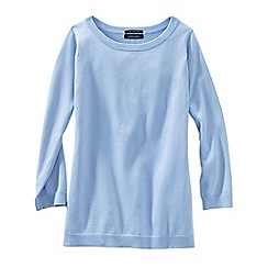 Lands' End - Blue fine gauge supima® crew neck
