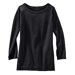 Lands' End - Black petite supima  crew neck