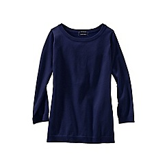 Lands' End - Blue women's supima reg crew neck