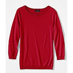Lands' End - Red women's supima reg crew neck