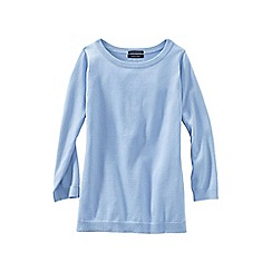 Lands' End - Blue supima reg crew neck