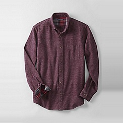 Lands' End - Red men's traditional fit flannel shirt