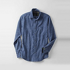 Lands' End - Blue men's traditional fit flannel shirt
