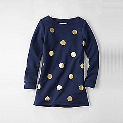 Lands' End - Blue little girls' dot sweatshirt legging top