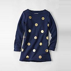 Lands' End - Blue girls' dot sweatshirt legging top