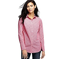 Lands' End - Pink women's long length print shirt