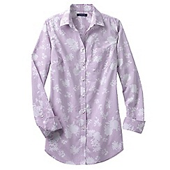 Lands' End - Purple women's long length print shirt
