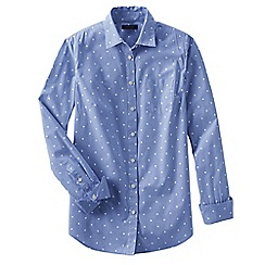 Lands' End - Blue women's long length print shirt