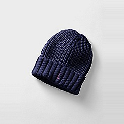 Lands' End - Blue women's basic knit beanie