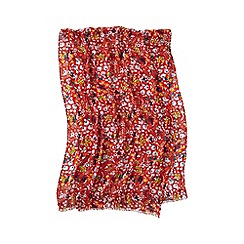 Lands' End - Orange multi ditsy floral scarf