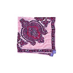 Lands' End - Pink paisley border large square scarf