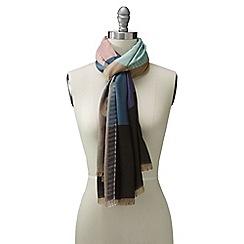 Lands' End - Blue luxe multi stripe scarf