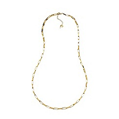 Lands' End - Gold rectangular chain link necklace