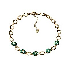 Lands' End - Green enamel link necklace