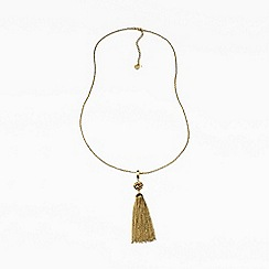 Lands' End - Gold lariat tassel necklace