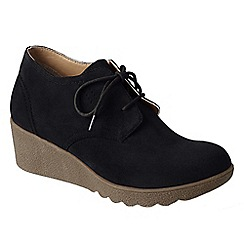 Lands' End - Black women's chalet ankle boots
