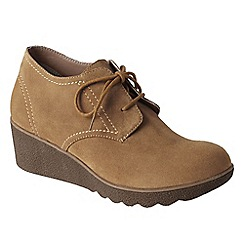 Lands' End - Beige women's chalet ankle boots