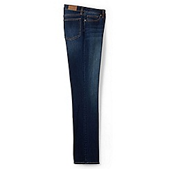 Lands' End - Blue xtra life mid rise straight leg jeans