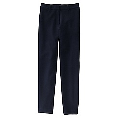 Lands' End - Blue women's ponte stretch ankle trousers