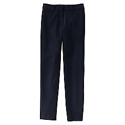 Lands' End - Blue petite ponte stretch ankle trousers