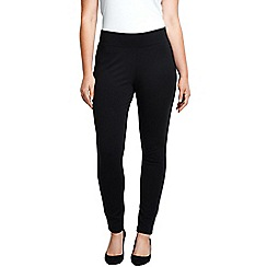 Lands' End - Black plus ponte stretch ankle trousers