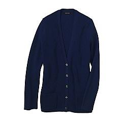 Lands' End - Blue women's cotton shaker cardigan