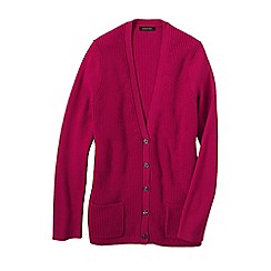Lands' End - Pink women's cotton shaker cardigan