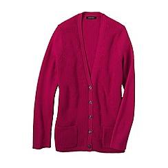 Lands' End - Pink plus cotton shaker cardigan
