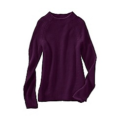 Lands' End - Red fine gauge shaker funnel neck jumper