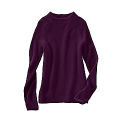 Lands' End - Red women's fine gauge shaker funnel neck jumper