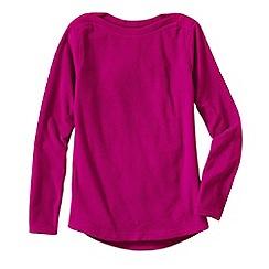Lands' End - Pink women's everyday fleece 100 boatneck jumper