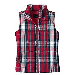 Lands' End - Red women's plaid down gilet