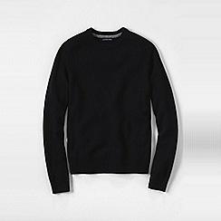 Lands' End - Black men's lambswool sweater