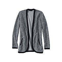 Lands' End - Black women's long sleeve jacquard cardigan