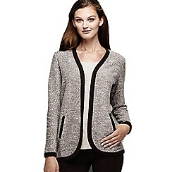 Lands' End - Brown women's long sleeve jacquard cardigan