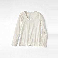Lands' End - Cream women's cotton/modal jersey sleep top