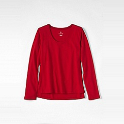 Lands' End - Red petite cotton/modal jersey sleep top