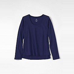 Lands' End - Purple petite cotton/modal jersey sleep top