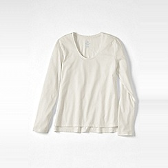 Lands' End - Cream plus cotton/modal jersey sleep top