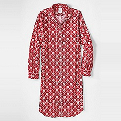 Lands' End - Pink women's flannel patterned nightdress