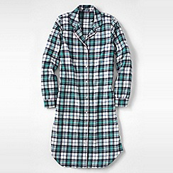 Lands' End - White women's flannel patterned nightdress