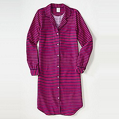 Lands' End - Pink petite flannel patterned nightdress