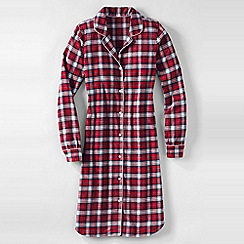 Lands' End - Red women's flannel patterned nightdress