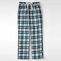 Lands' End - White flannel patterned pyjama bottoms