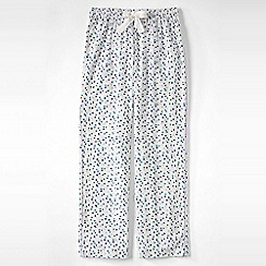 Lands' End - Cream flannel patterned pyjama bottoms