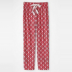 Lands' End - Pink flannel patterned pyjama bottoms
