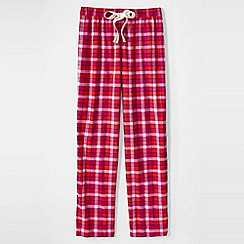 Lands' End - Red women's flannel patterned pyjama bottoms