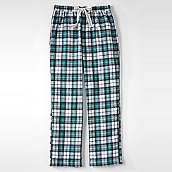 Lands' End - White women's flannel patterned pyjama bottoms