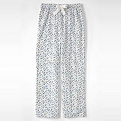 Lands' End - Cream women's flannel patterned pyjama bottoms